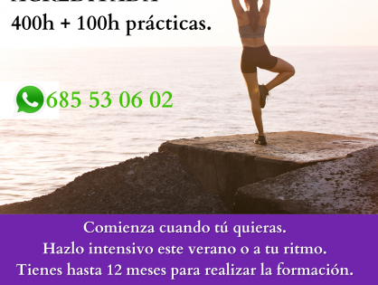 Hazte Monitor de Yoga - Formación Acreditada - Curso de Verano 2021
